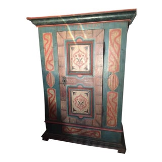 Antique Hand Painted Armoire, Made in Italy