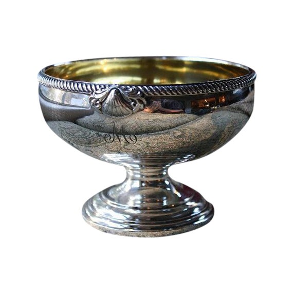 International Silver Co Gold Washed Waste Bowl - Image 1 of 5