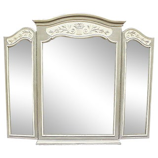 Large Triptych French Country Style Mirror