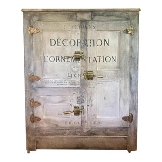 Antique Icebox Liquor Cabinet