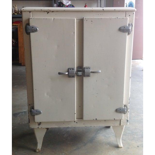 Image of Vintage Industrial White Metal Ice Box
