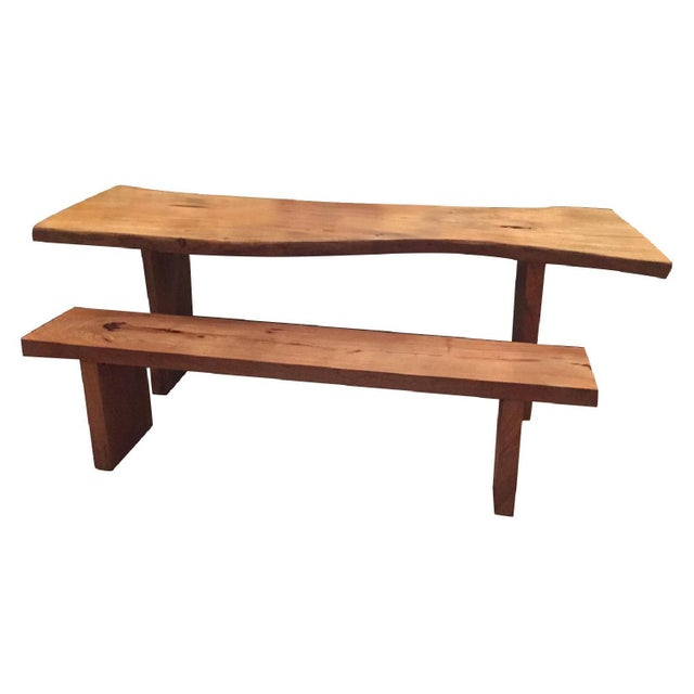 Rustic Wooden Dining Set - Image 1 of 2