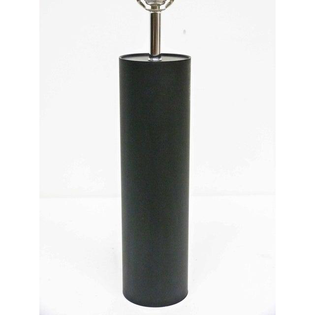 Image of Black & Chrome Cylinder Table Lamp