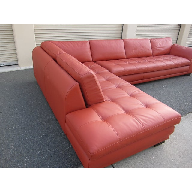 Roche Bobois Sunset Orange Sectional Sofa - Image 5 of 9