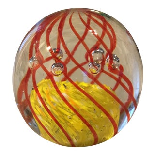 Hand Blown Art Glass Bubble Paper Weight