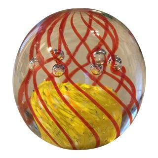 Hand Blown Art Glass Bubble Paper Weight