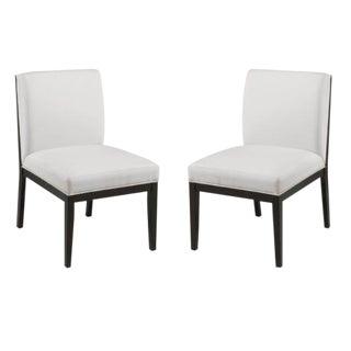 Modern Occasional Slipper Chairs - A Pair
