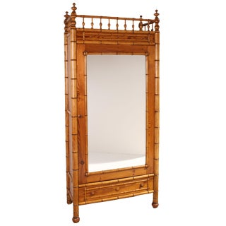 1880 Faux Bamboo French Armoire
