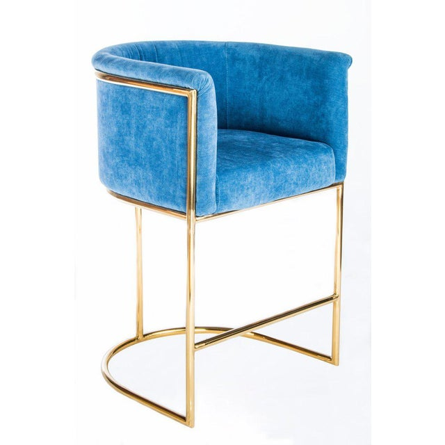 Mira Gold Counter Chair Chairish