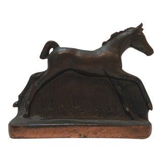 Vintage Metal Horse Bookend
