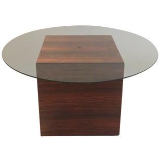 Milo Baughman Rosewood Cube Coffee Table