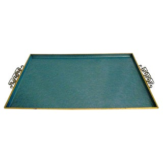 Large Light Blue Kyes Moiré Tray