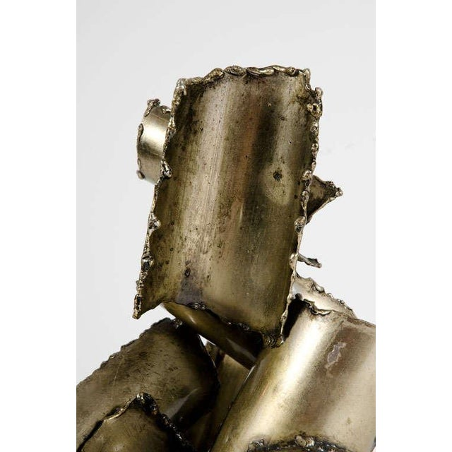Marcello Fantoni Brutalist Torch Cut Steel Sculpture - Image 7 of 10