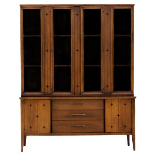 Broyhill Saga China Cabinet on Credenza