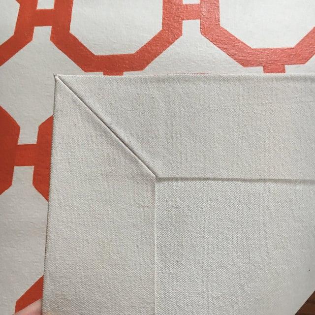 """Orange & White Canvas Rug - 2'6"""" x 5'2"""" - Image 4 of 4"""