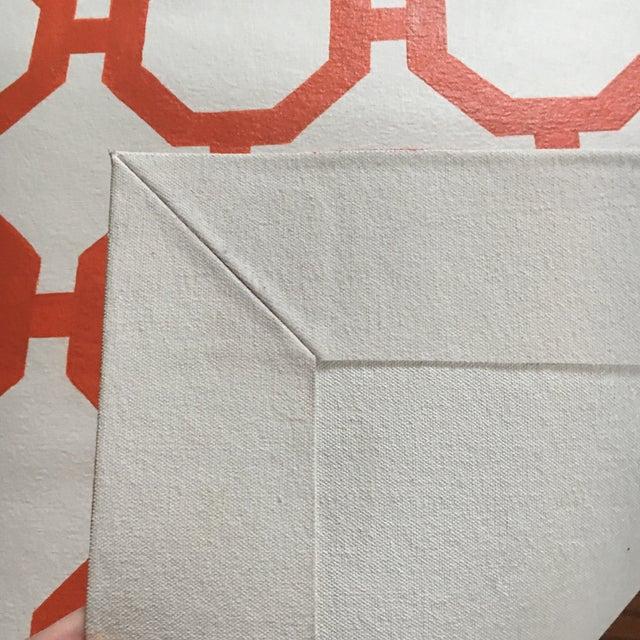 """Image of Orange & White Canvas Rug - 2'6"""" x 5'2"""""""
