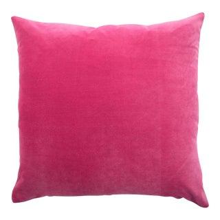 Italian Bright Pink Velvet Pillow
