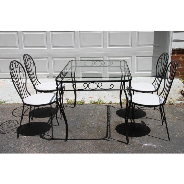 Iron Dining Set: Vintage Wrought Iron Dining Set