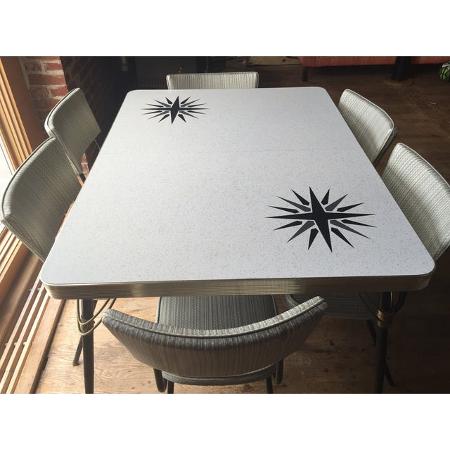 1960s vintage formica dining set chairish