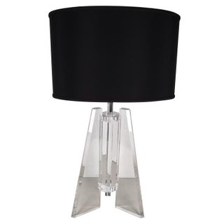 Architectural Lucite Table Lamp