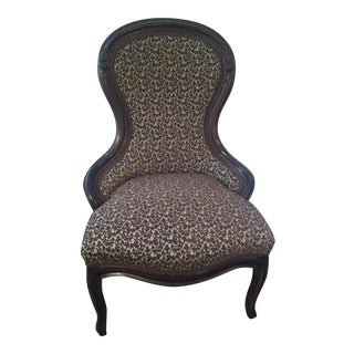 Antique Victorian Slipper Chair