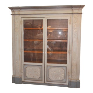 Vintage Distressed Gray Armoire