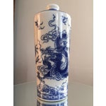Image of Blue and White Dragon Vases - Pair