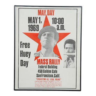 "May Day Mass Rally ""Free Huey Day"" Poster"