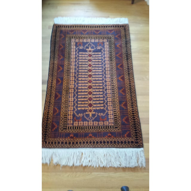"""Persian Shiraz Hand-Knotted Oriental Wool Rug - 4'10"""" X 2'11"""" - Image 3 of 11"""