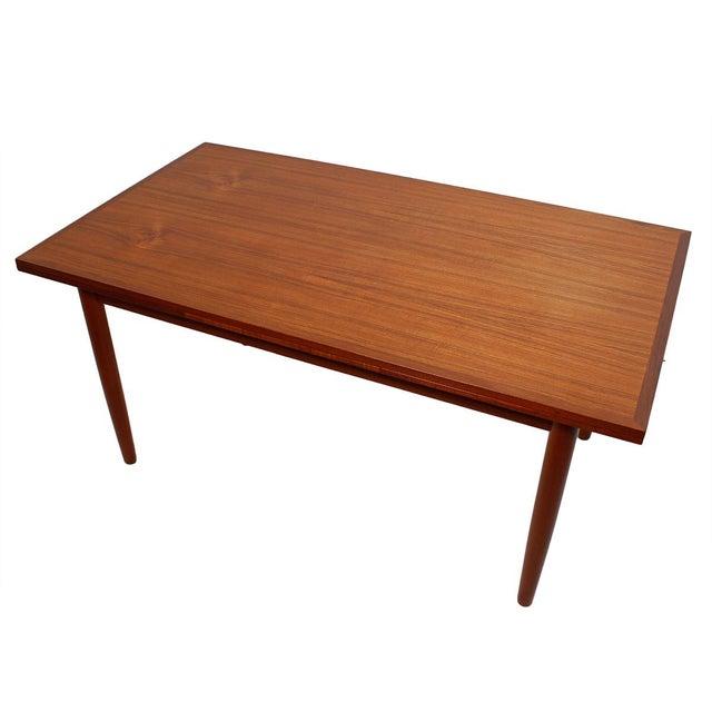 Danish Modern Teak Two-Tone Expanding Dining Table - Image 1 of 6