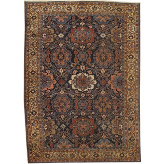 "Antique Persian Heriz Hand-Knotted Rug- 7'9""x10'10"""