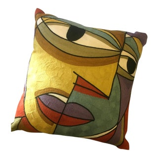 Expressionist Abstract Picasso-Esque Pillow