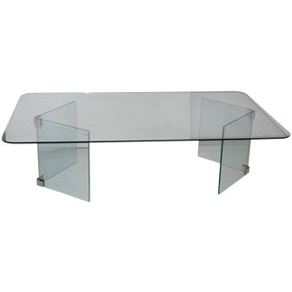Pace Hollywood Regency Glass Coffee Table