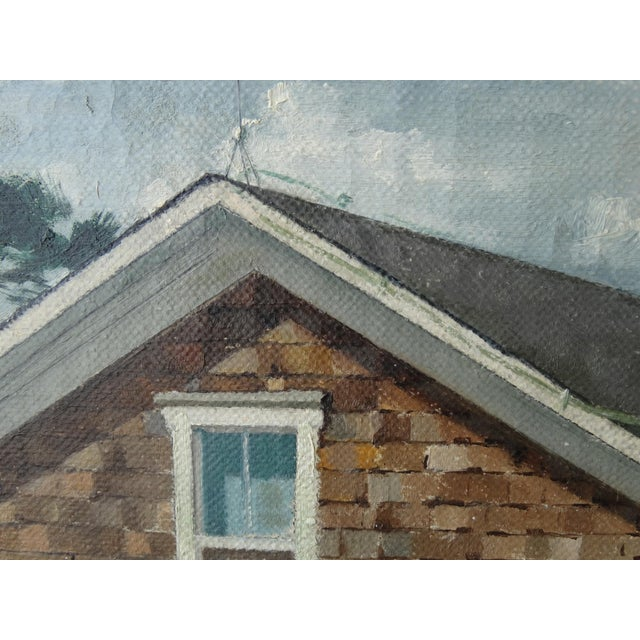 Vintage Landscpe Oil Painting by Russell - Image 6 of 10