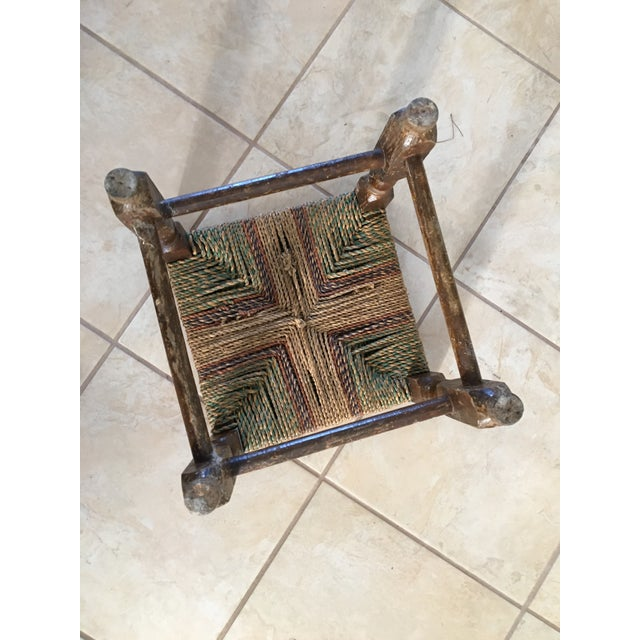 Image of Rustic Rush Woven Small Foot Stool