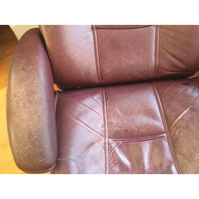 Hjellegjerde Mobler Reclining Lounge Chair and Ottoman - Image 8 of 11