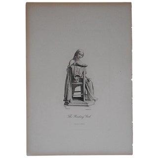 19th Century Steel Engraving of Woman