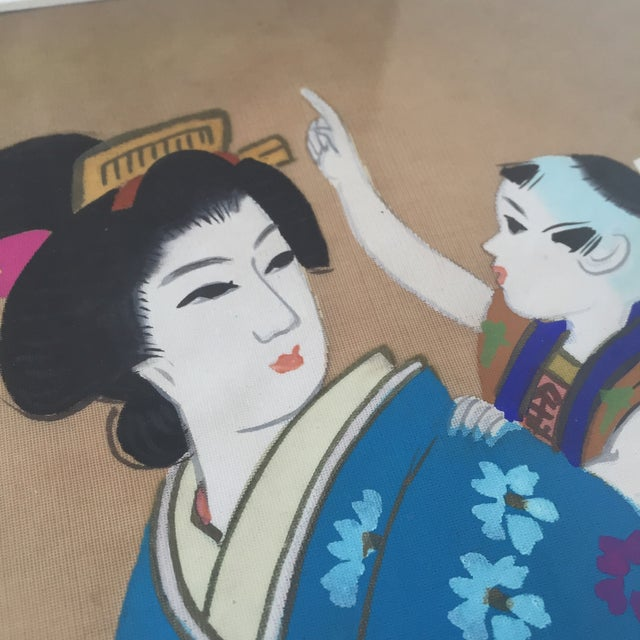 Japanese Hand Painted Silk - Image 7 of 11