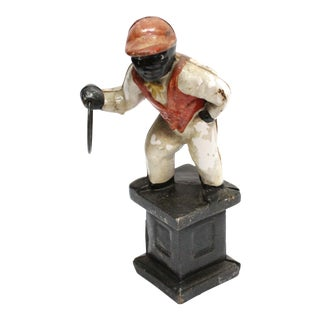1920's Original Cast Iron Lawn Jockey