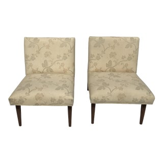 1960 Jens Risom Style Slipper Chairs - Pair