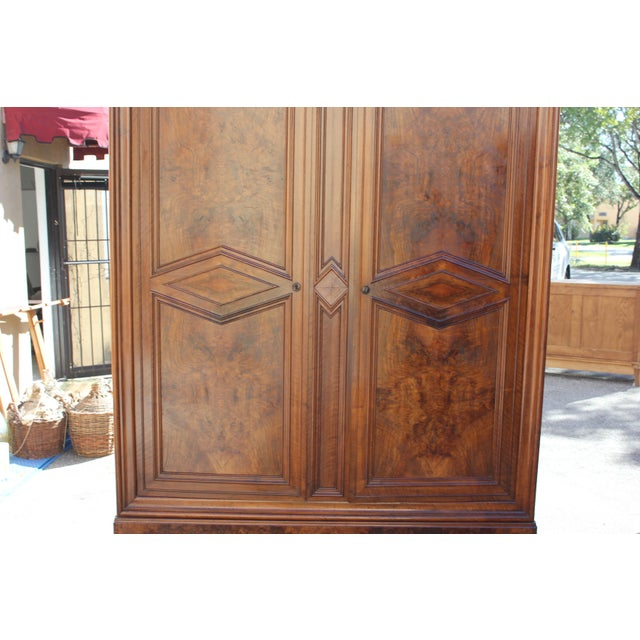 19th Century French Louis Philippe Walnut Armoire Period Chateau Circa 1850s - Image 7 of 11