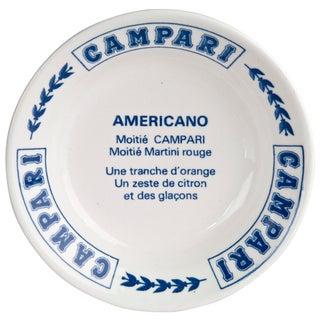 Vintage French Gien Porcelain Campari Ashtray