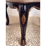 Image of French Black Lacquered & Tan Cane Side Chair