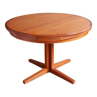 """Expandable Danish Teak """"Lotus"""" Dining Table by Dyrlund"""