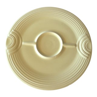 Fiestaware Yellow Hostess Chip & Dip Platter