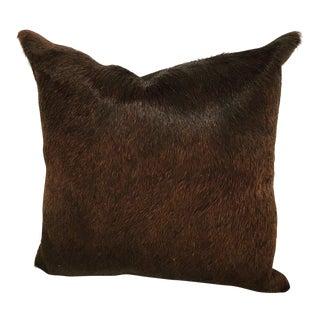 Dark Brown Cowhide Pillow
