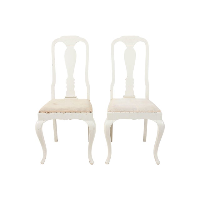 French Side Chairs with Fiddle Back - A Pair - Image 1 of 3
