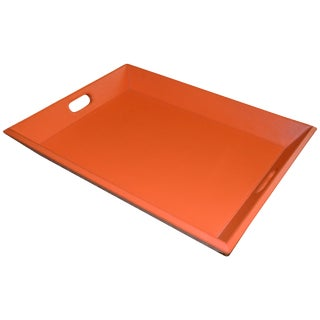Orange Leather Serving Tray