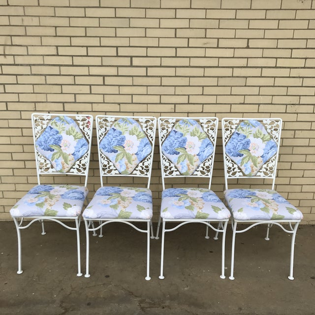 "Iron ""Garden Party"" Chairs - Set of 4 - Image 3 of 6"