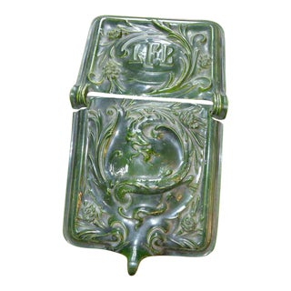 Early Porcelain & Enamel Coal Skuttle with Dragon